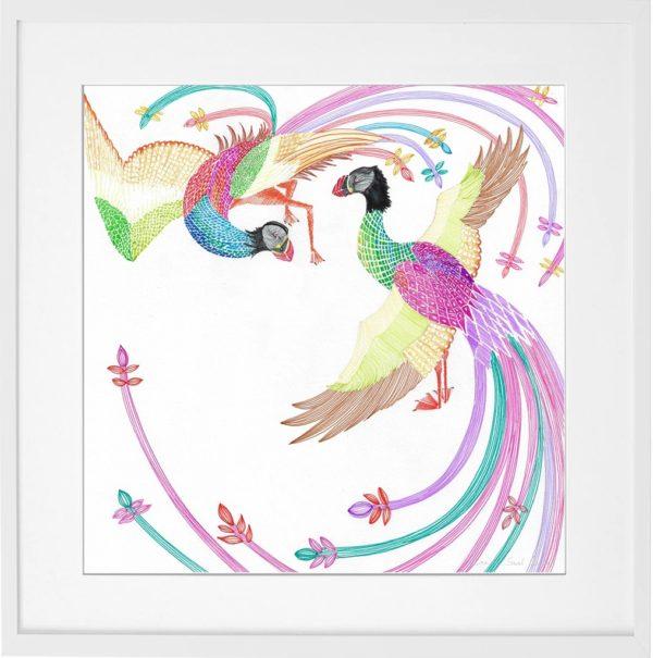 bird love drawing