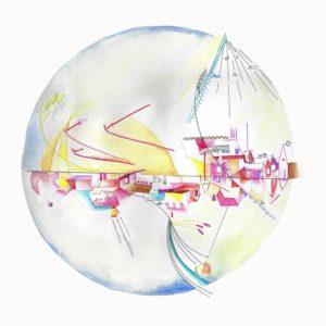 canada north hemisphere drawing