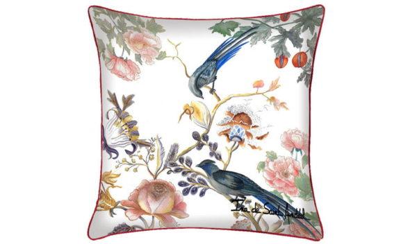 housse de Coussin décoratif oiseau ina de saint andeol