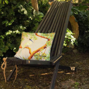 Outdoor pillows design grey chinoiserie. ina de saint andeol