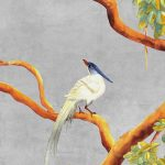 vinyl wallpaper trompe l'oeil painting china love bird concrete