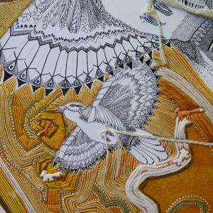 le petit prince peinture laine et stickers collage