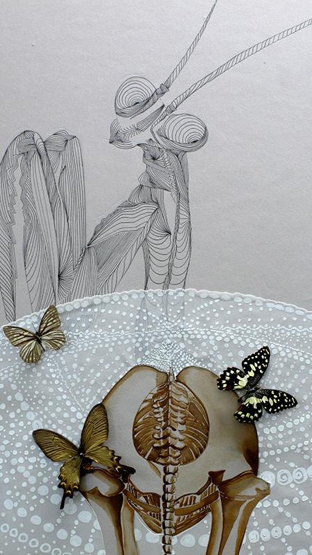 le petit prince open boa painting collage watercolor evolution butterflies