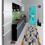 fridge trompe l'oeil sticker painting village fantastic interior