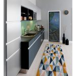 fridge trompe l'oeil sticker painting tropical leaves interior