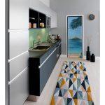 fridge door trompe l'oeil sticker painting tropical leaves interior