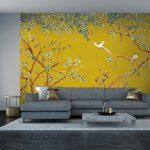 papier peints adhesifs aquarelle dressing trompe l'oeil chinoiserie