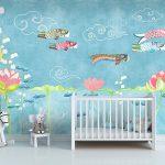 Adhésifs décoration papiers peints poissons japon zen