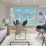 Adhésifs décoration papiers peints poissons japon