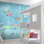 Adhésifs décoration papiers peints poissons japon asie