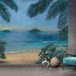 Adhésifs décoration papiers peints  mer oasis