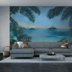 Adhésifs décoration papiers peints oasis