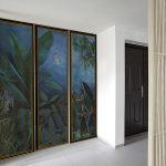 cupboard door trompe l'oeil sticker painting Rousseau