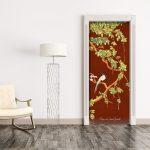 vinyl door sticker trompe l'oeil painting china love bird red
